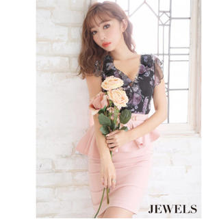JEWELS - Jewels♡花柄ペプラム♡ドレス♡新品未使用
