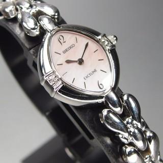 セイコー(SEIKO)のSEIKOセイコー エクセリーヌ 2Pダイヤ レディース腕時計 稼働品(腕時計)