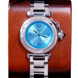 Cartier - カルティエ ミスパシャ SS レディース ブルー 文字盤 クォーツ 腕 時計