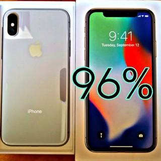 iPhone - iPhone X 64GB SIMフリー silver バッテリー96% 美品