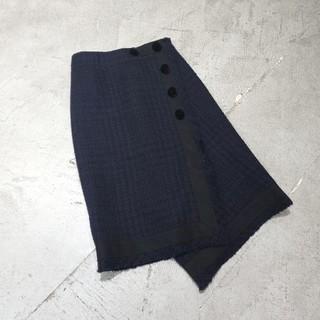 サカイ(sacai)の19aw Sacai サカイ wool tweed ウール ツイード スカート(ひざ丈スカート)