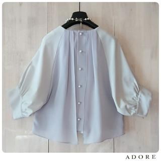 ADORE - ◆幻◆春物新品 定価2.8万円 ADORE コットンバックパールボタンカットソー
