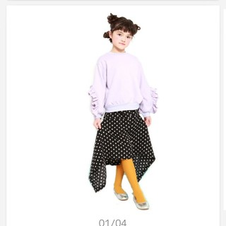ユニカ(UNICA)のUNICA マーメイドスカート 130 新品 ブラック(スカート)