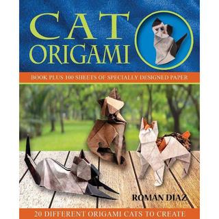 コストコ - 洋書 ★ CAT ORIGAMI 折り紙 100枚入 デザイナー 猫 10種