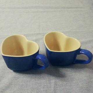 LE CREUSET - ルクルーゼ マグカップ ハート コバルトブルー
