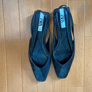 ZARA - zaraアニマル柄靴