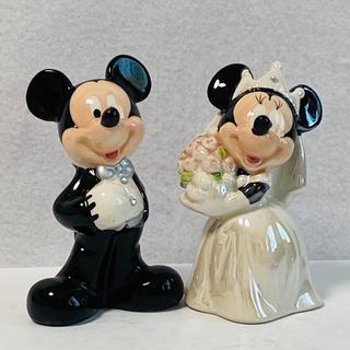 Disney - 【 未使用 】Disney 陶器製  ミッキー&ミニー  ソルト&ペッパーセット
