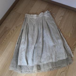 nest Robe ネストローブ 2枚重ねリネンスカート