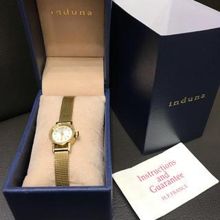 アッシュペーフランス(H.P.FRANCE)のほぼ未使用 電池交換済み induna  インドュナ 腕時計(腕時計)