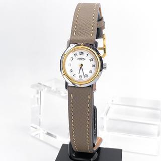 Hermes - 【保証書付/ベルト二色付】エルメス クリッパー コンビ レディース 腕時計
