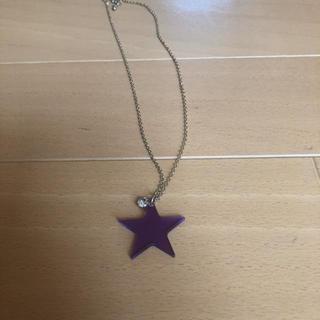 レピピアルマリオ(repipi armario)のネックレス 紫(ネックレス)