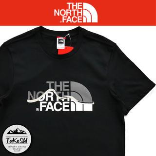 THE NORTH FACE - ノースフェイス Tシャツ ハーフドーム ロゴ マウンテンライン ブラック M
