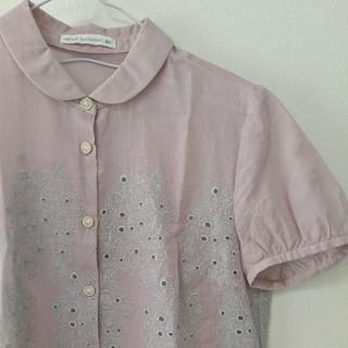 ミナペルホネン(mina perhonen)のミナペルホネン ブラウス sometimes  lucky *pink(シャツ/ブラウス(半袖/袖なし))
