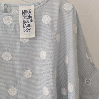 ミナペルホネン(mina perhonen)のミナペルホネン ブラウス LAUNDRY vapor(シャツ/ブラウス(半袖/袖なし))