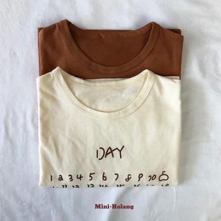 【男の子】韓国子供服 カレンダー半袖Tシャツ/新品