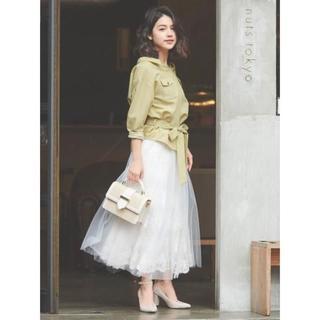 Noela - 2020新作 Noela(ノエラ) 刺繍チュールスカート
