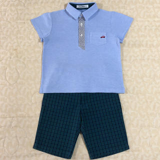 familiar - 現行品familiar  半袖ポロシャツ & ハーフパンツ size 120cm