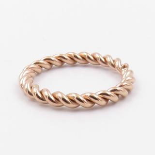指輪 レディース リング ツイスト ピンクゴールド ステンレス(リング(指輪))