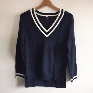 UNIQLO - UNIQLO♡完売クリケットセーター♡チルデンニット♡ネイビーS♡数回着用のみ♡