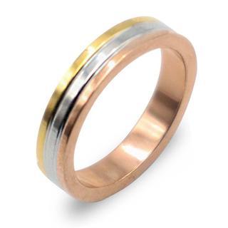 指輪 レディース リング ステンレスMIX ゴールド ピンク シルバー(リング(指輪))