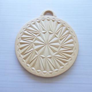 木彫り鍋敷き 木製 トリベット(インテリア雑貨)