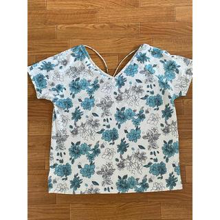 スパイラルガール(SPIRAL GIRL)のSPIRALGIRL 花柄トップス(Tシャツ(半袖/袖なし))