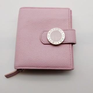 BVLGARI - ブルガリ BVLGARI   二つ折り財布 ライトピンク 修復品