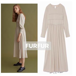 fur fur - 【新品未使用タグ付き/美品】ファーファー/コルセット風コットンカットソーワンピ