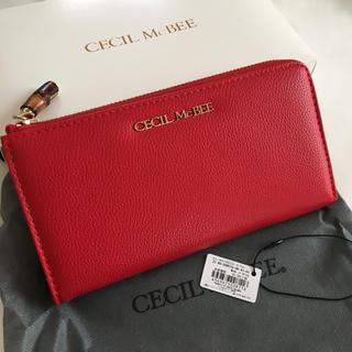 CECIL McBEE - 新品 セシルマクビー L字ファスナー 長財布 ウォレット レッド 赤