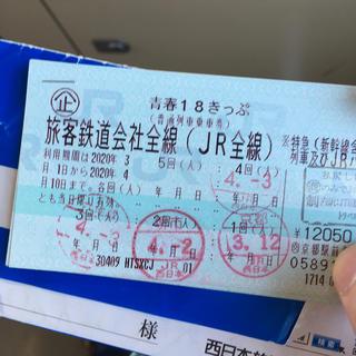 ジェイアール(JR)の18きっぷ 1回(鉄道乗車券)