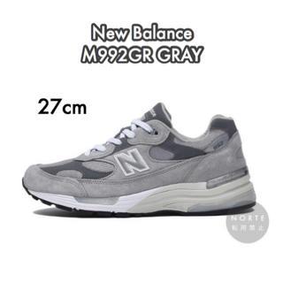 ニューバランス(New Balance)の《新品/27cm》New Balance M992GR グレー(スニーカー)