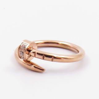指輪 レディース リング 釘 ピンクゴールド ジルコニア ステンレス(リング(指輪))