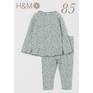 H&M - H&M ❁ ダスキーグリーンフローラルセットアップ
