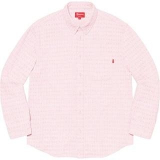 シュプリーム(Supreme)のSupreme Jacquard Logos Denim Shirt ピンク S(シャツ)