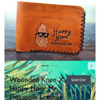 スラッシャー(THRASHER)のWounded Knee X happy hour レザーウォレット 新品(長財布)
