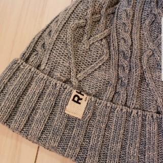 ロンハーマン(Ron Herman)のコットンニット帽 ケーブル編み インディゴ デニム(ニット帽/ビーニー)