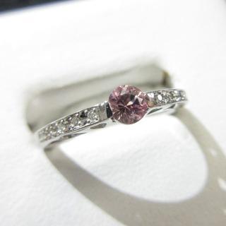 超希少石ピンクゾイサイト0.237ct ソーティングあります プラチナ製指輪