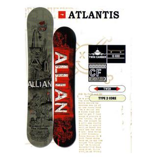 アライアン(ALLIAN)のALLIAN スノーボード 板 アトランティス 154(ボード)