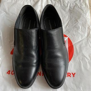 ロックポート(ROCKPORT)のROCKPORTスリッポン革靴 黒 25cm 1回使用(ドレス/ビジネス)