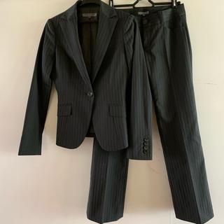 BLACK by moussy - ブラックマウジー ストライプ 美脚スーツ セットアップ