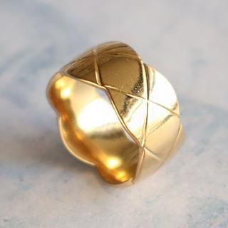 指輪 レディース リング マトラッセ ゴールド 華奢 ステンレス 高級感(リング(指輪))