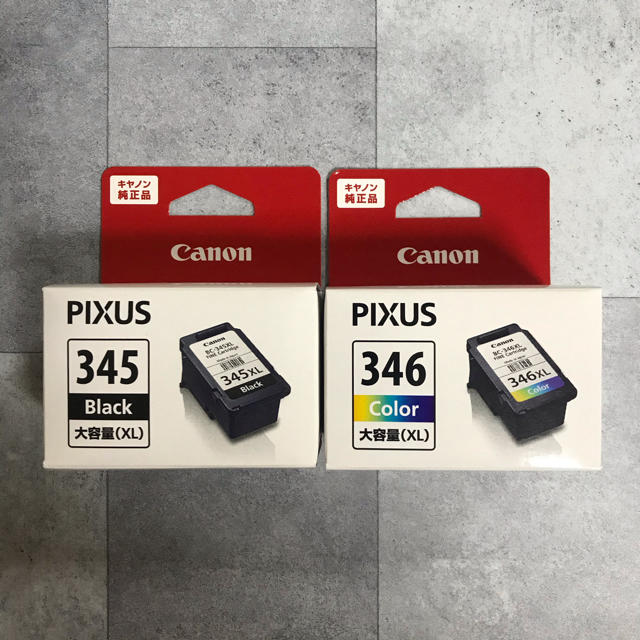 Canon(キヤノン)のCanon インクカートリッジ 大容量 XL 345 346  キャノン スマホ/家電/カメラのPC/タブレット(PC周辺機器)の商品写真