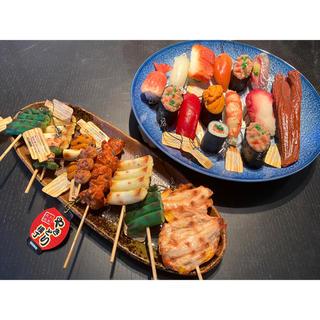 豪華👑お寿司と焼き鳥の食品サンプル✨