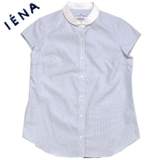 IENA - IENA ブルードビーラウンドカラーシャツ 定価13,000円 イエナ