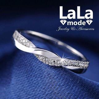 リング 指輪 レディース AAA ジルコニア ホワイトゴールド仕上げ(リング(指輪))