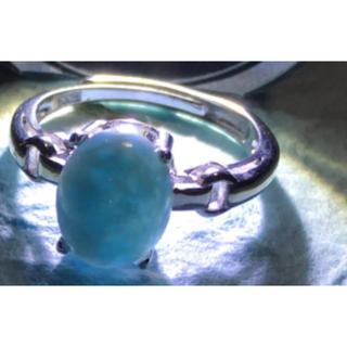箱付き宝石リング シルバー925リング silver925 ラリマー指輪(リング(指輪))