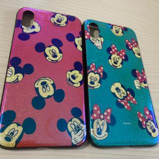 ディズニー(Disney)のiPhoneX用ケース ディズニー ミッキー ミニー シリコン製(iPhoneケース)