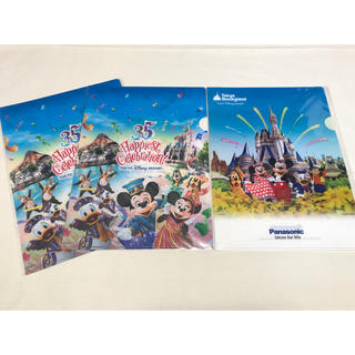Disney - Panasonic パナソニック ディズニー クリアファイル 3枚 35周年