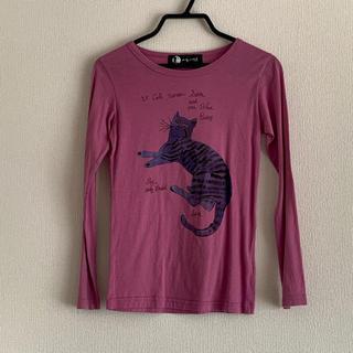 アンディウォーホル(Andy Warhol)の猫ちゃんTシャツ アンディウォーホル パープル(Tシャツ/カットソー)