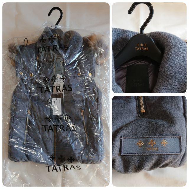 TATRAS(タトラス)の20AW国内正規カード付 新品 タトラス LUSERA ダウンベスト 定価11万 レディースのジャケット/アウター(ダウンベスト)の商品写真